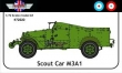DTM72020 - White M3A1 Scout car (British + French versions)